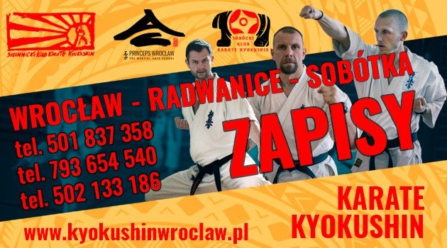 trzech karateków, numery telefonów 501 837 358, 793 654 540, 502 133 186, wrocław, radwanice, sobotka