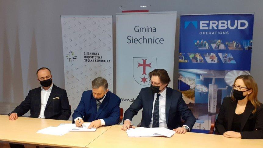 Podpisanie umowy na budowę nowego ośrodka zdrowia w Siechnicach