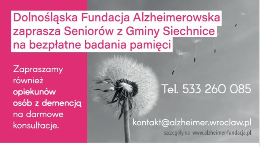 ulotka Fundacja Alzheimerowska