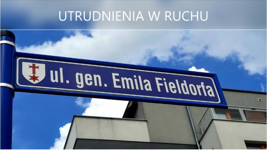 ul. Fieldorfa, Siechnice - utrudnienia w ruchu